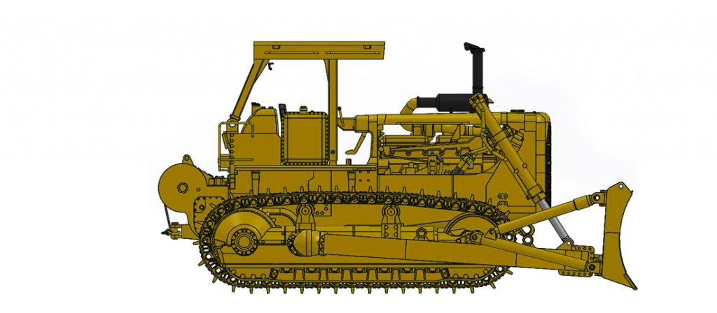 Cat D8K with Open ROPS, A-Blade & Cat 58 Winch
